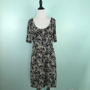 Ann Taylor Dress Scoop Neck Print Size 6